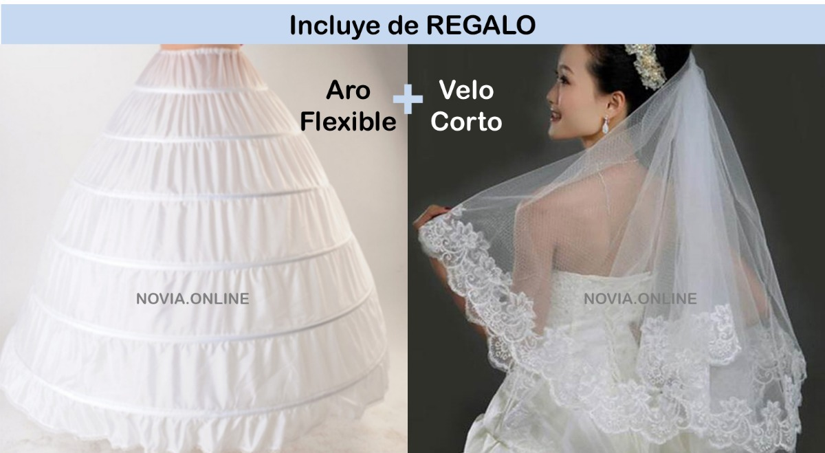 10fbbbb85dc3 Vestido Novia Ivory Aroflex Y Espectacular De Velo Blanco; O gzwFndqE