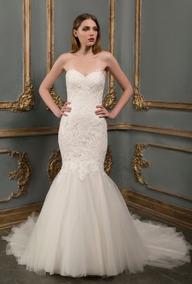 Espectacular Vestido Novia Corte Sirena Marca Essence