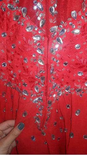 espectacular vestido para noche;fiesta;recepcion,15;bordado