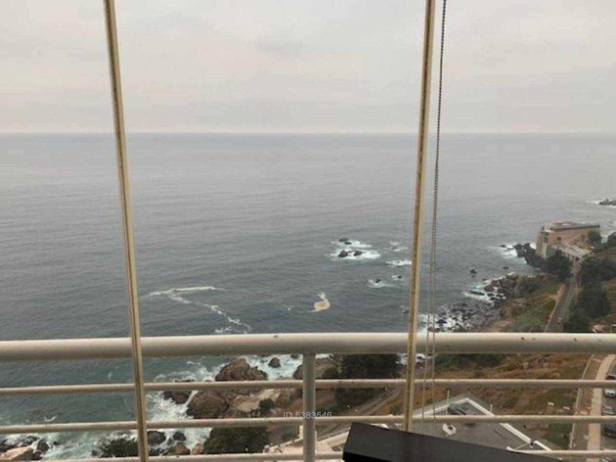 espectacular vista despejada al mar