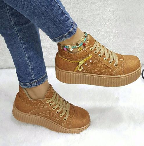 espectacular zapato mujer dama miel moda  feria del calzado