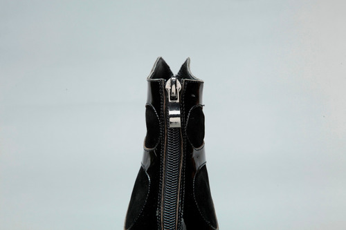 espectaculares botas d cuero, tacon de acero bsh48 talla 39