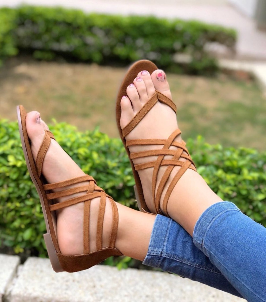 Miel Mujer Espectaculares Moda Sandalias Planas Para Tiras MUjVLSzGqp