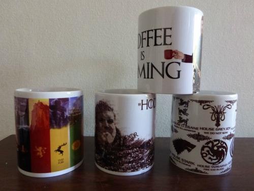 espectaculares tazones de game of thrones coffee is comming