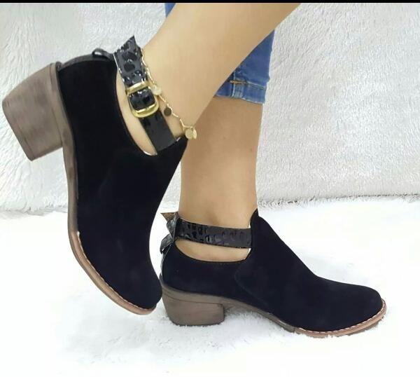 9598d4f524d Espectaculares Zapatos Texanos Negros A La Moda Para Mujer ...