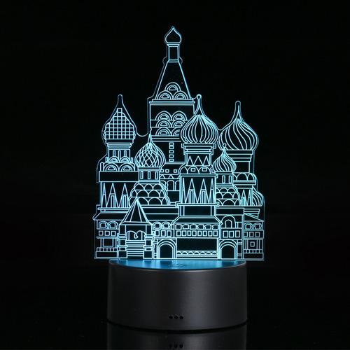 espejismo visual 3d lámpara acrílico transparente noche luz