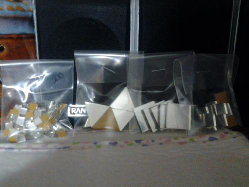 espejitos cuadrados p/ artesanias de 0,5x0,5 cm x (250und).