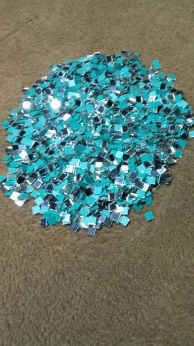 espejitos mini cuadrados de 0,5x0,5cm p/artesanias x(500und)