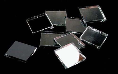 espejitos tipo venecita 2x2cm 1/4kg - mosaiquismo
