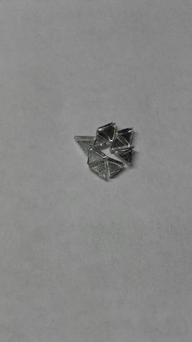 espejitos triangulares de 2x2x2 cm x 2mm de espesor,250und