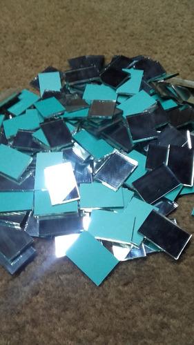 espejitos venecitas 1x1, 500 unidades p/mosaiquismo