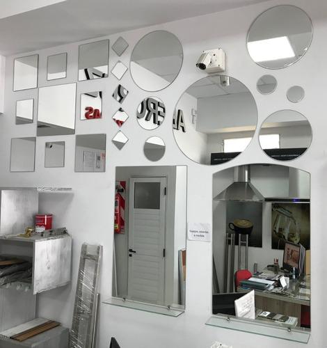 espejo 100x100 baño living decoración 4mm corte medida