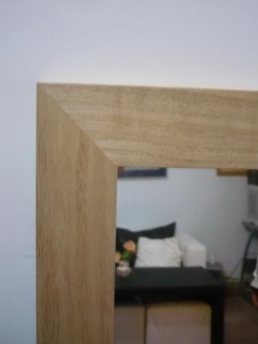 espejo 130x50 marco de madera 4.5cm / living comedor baño