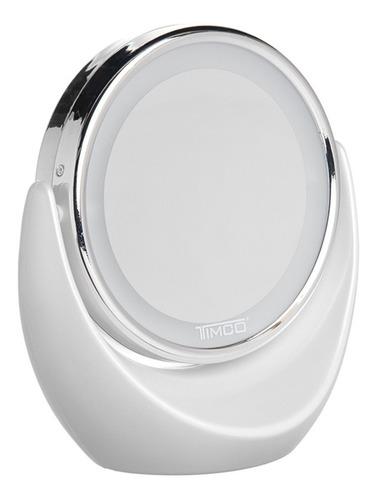 espejo 2 aumentos 5x y 1x con luz timco esp-tb