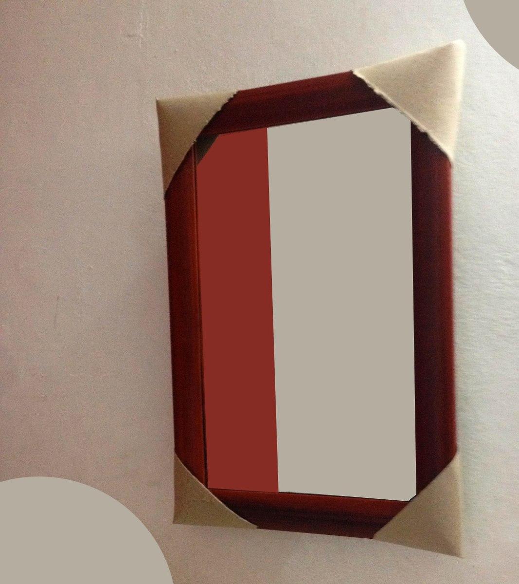 Espejo 30x50cm con marco de madera bs en for Espejo 50 x 150