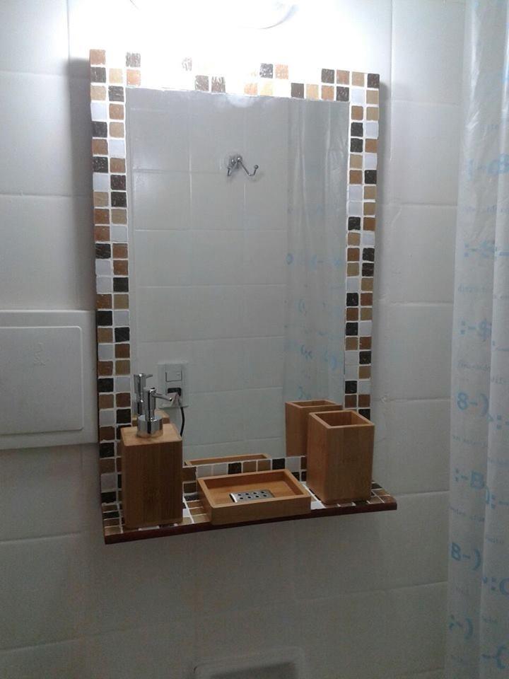 Espejo Bano.Espejo 60x40 Con Estante Ideal Bano