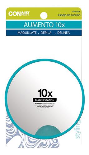 espejo adherible de succion con aumento 10x conair 41649mx
