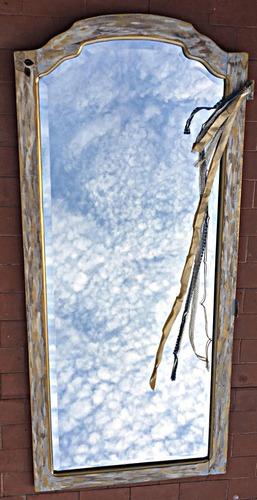 espejo antiguo artístico (cuerpo entero)