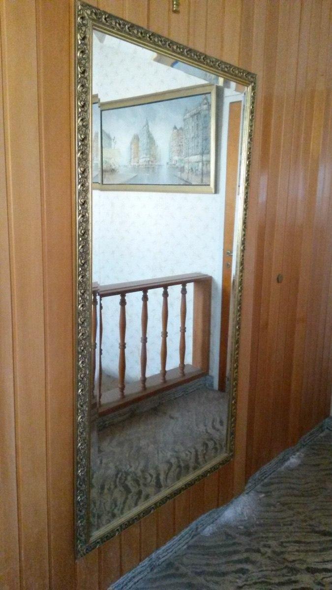 Espejo Antiguo Biselado. Gran Tamaño. Marco Madera Dorado - $ 4.800 ...