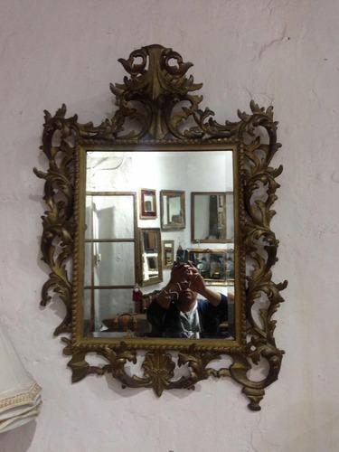 espejo antiguo con cristal biselado