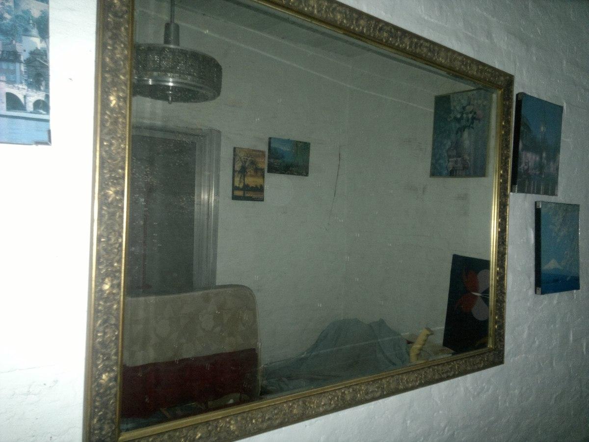 Excepcional Espejo Antiguo De Bronce Enmarcado Embellecimiento ...