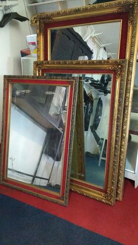 espejo antiguo madera vintage