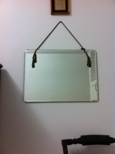espejo antiguo rectangular de los años 40