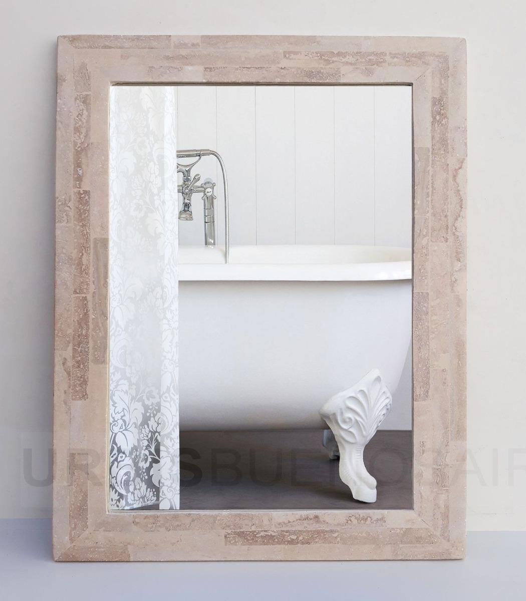 Espejo Baño Botiquin Marco Travertino Venecitas Marmol 80x80 ...