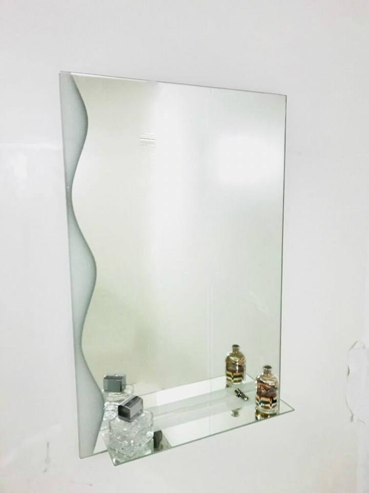 Espejo Baño Decoración Repisa Diseño Luz Hogar
