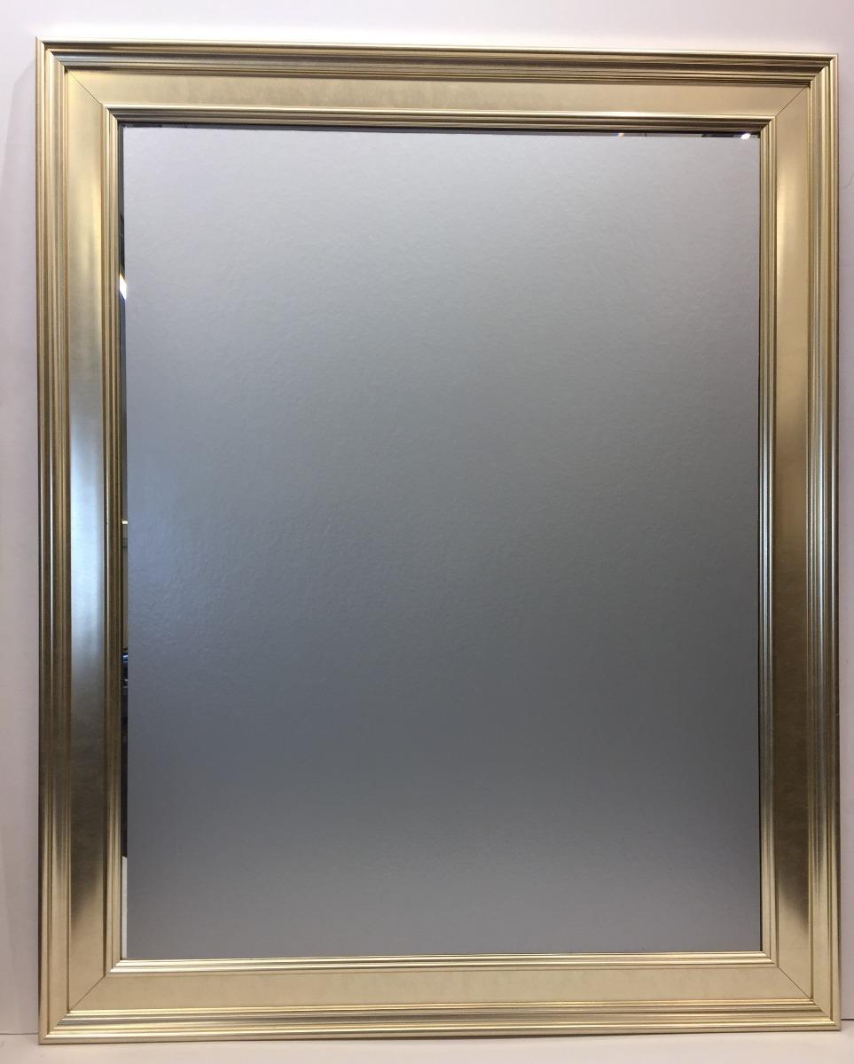 Espejo Biselado Con Marco Plateado Trabajado Living 72x132 2400