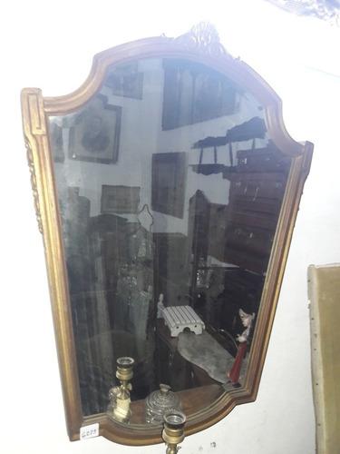 espejo biselado estilo francés marco dorado. cód.: #0991