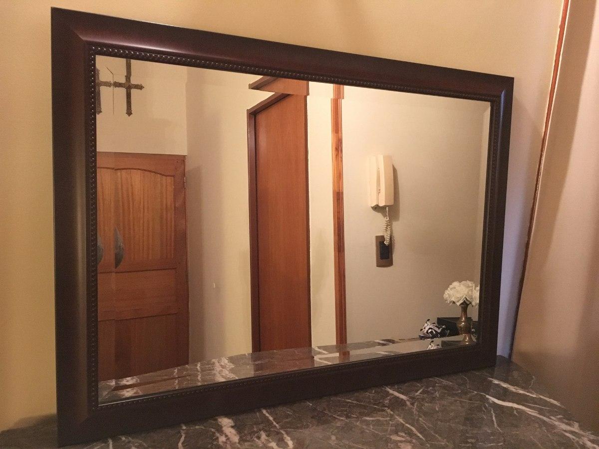 Espejo Biselado Marco Decorativo Símil Madera. Como Nuevo! - $ 2.600 ...