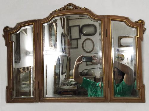 espejo biselado tríptico estilo francés. cód.: #1026