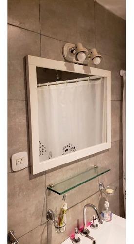espejo blanco amube mediterraneo 60 cm baño laqueado living