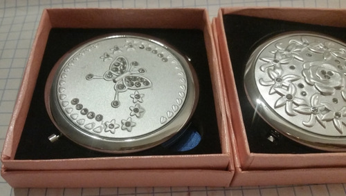 espejo bolsillo elegante regalo boda xv paquete flores caja