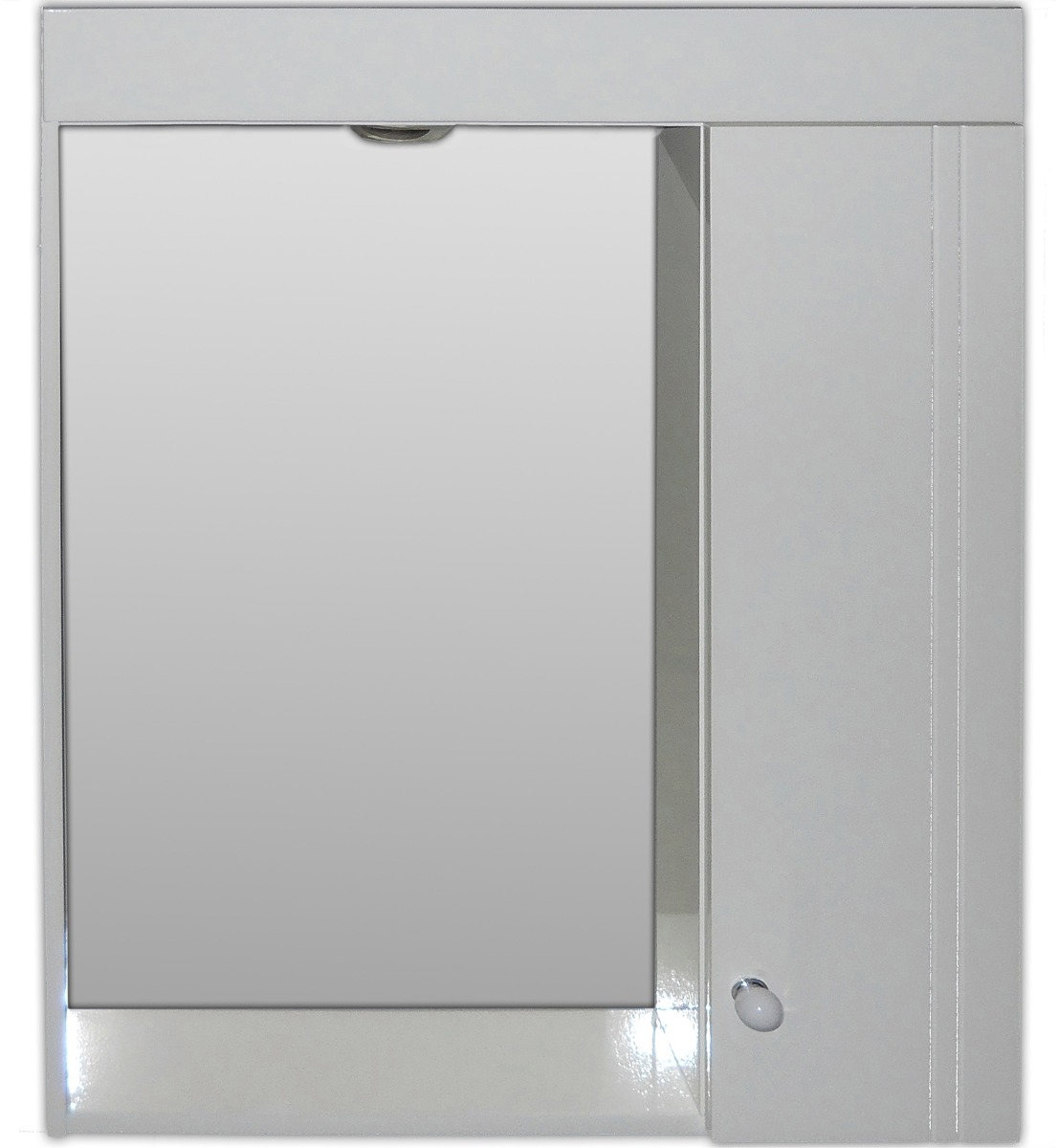 Espejo Botiquín Baño 50x70 Blanco Peinador Laqueado C/luz - $ 956,96 ...