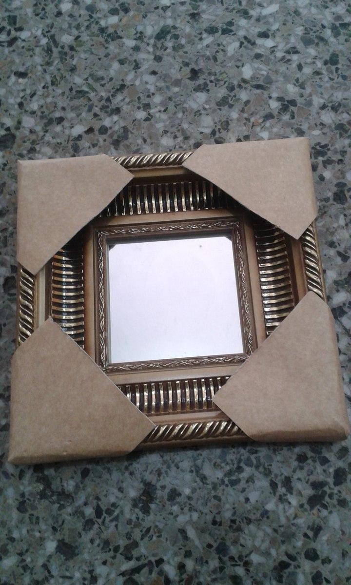 Espejo C. Marco Tallado Medida 10x10 - Bs. 17.500,00 en Mercado Libre