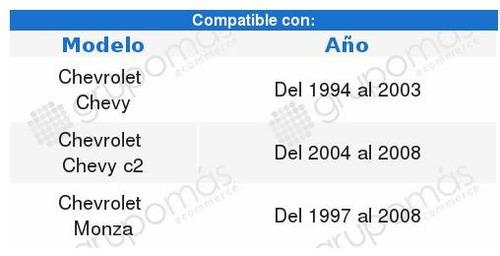 espejo chevrolet chevy c2 negro 2004  2005  2006  2007  2008