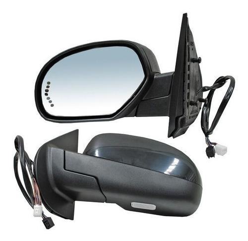 espejo chevrolet silverado 08 elec c/desem luz inf derecho