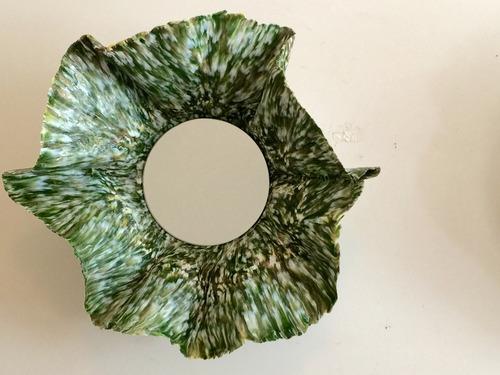 espejo colgante pared redondo plastico reciclado decoracion