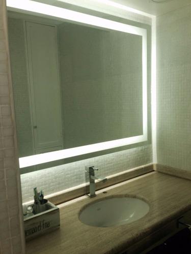 espejo con guarda esmerilada y luces led!