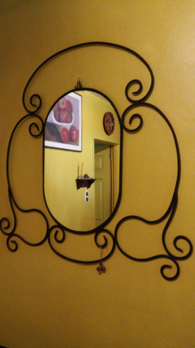 espejo con hierro forjado ancho 84 cm alto 95 cms