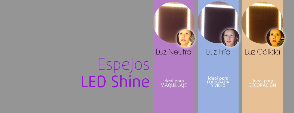 espejo con luces led clida fra y neutra para maquillaje with espejos con luces led