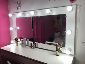 Espejo Con Luces Y Escritorio Ideal Maquillaje Y Peluqueria