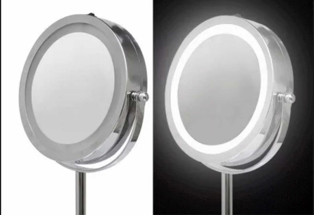 Espejo Bano Aumento Con Luz.Espejo Con Luz Led De Tocador Bano Aumento 10x Y Normal