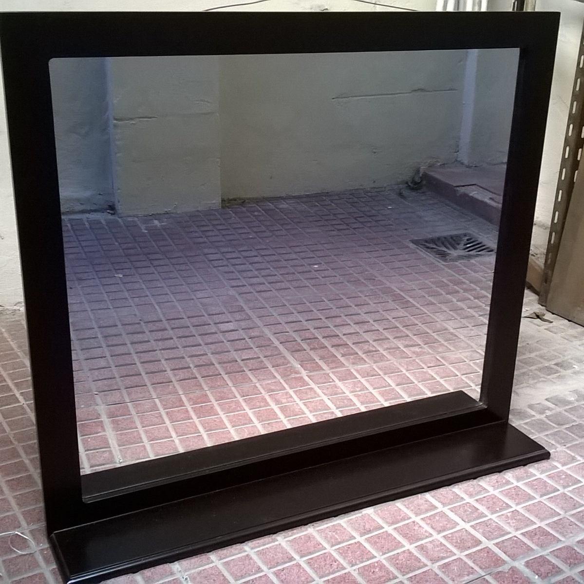 Espejo Con Marco 60 X 70 Alto **repisa** Wengue Laqueado ...