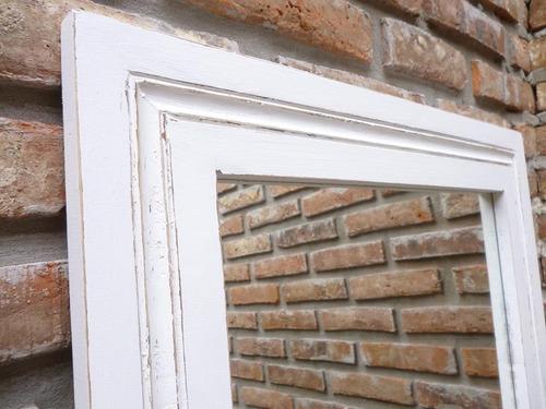 espejo con marco de madera 1.20 x 0.80 x 9 cm