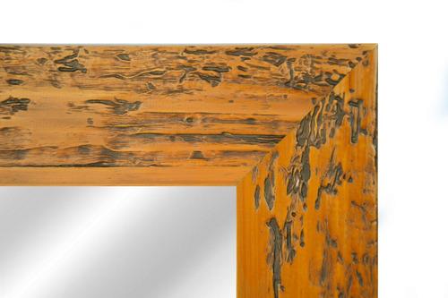 espejo con marco de madera 6,5 cm patinado 162x62cm final!!