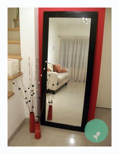 espejo con marco de madera-excelente precio! 1,80x0,60 10cm