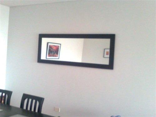espejo con marco de madera-excelente precio!color a elección